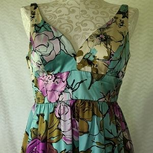 Adrianna Papell silk floral special occasion dress